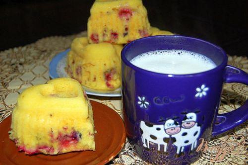 Ягодные кексы Валентинка