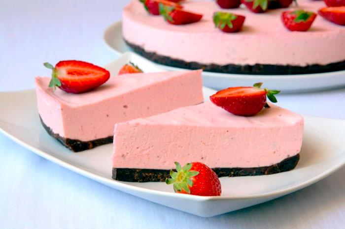 Низкокалорийные десерты из творога Чизкейк без выпечки