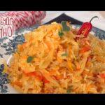 Консервированный салат из капусты и риса