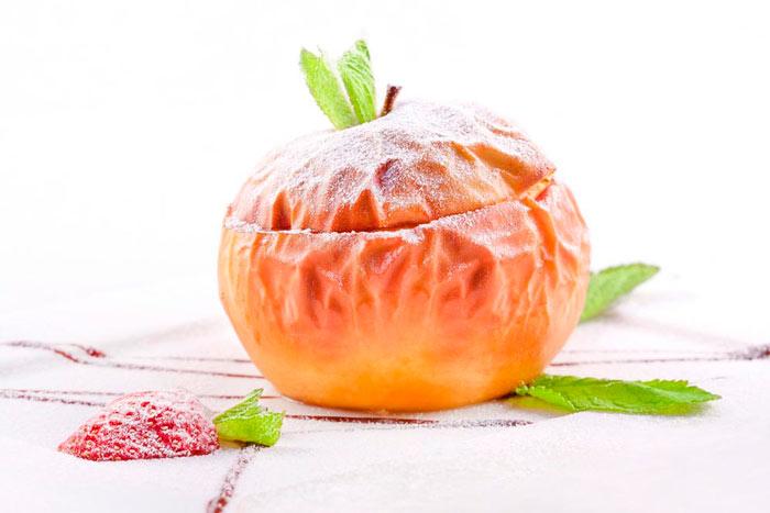 Яблоки с медом на скорую руку