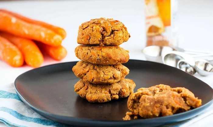 Морковное овсяное печенье