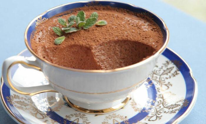 суфле и шоколадом из фруктозы
