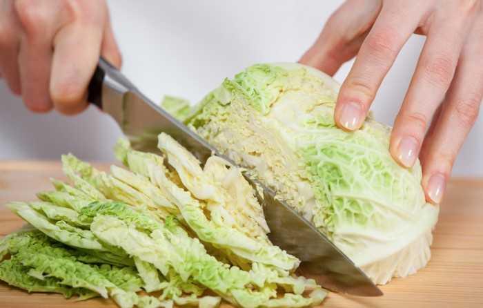 Как нарезать капусту ножом