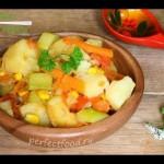 Овощное рагу с кабачками и кукурузой — YouTube