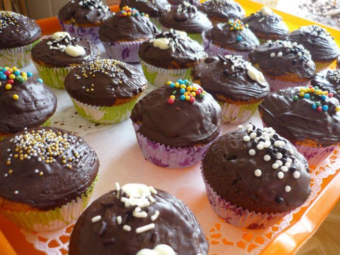 Кексы диетические в силиконовых формочках