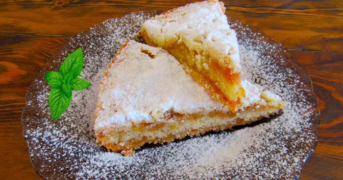 Болгарский насыпной яблочный пирог фото