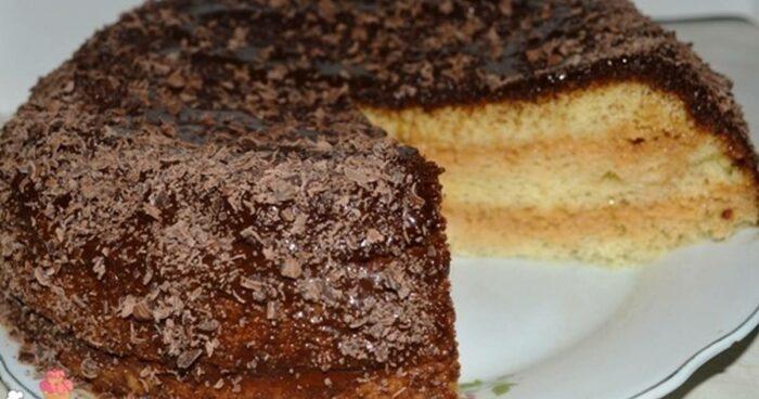 """торт """"Норка"""" со сгущенкой в мультиварке"""