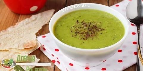Постный суп-пюре из зеленого горошка