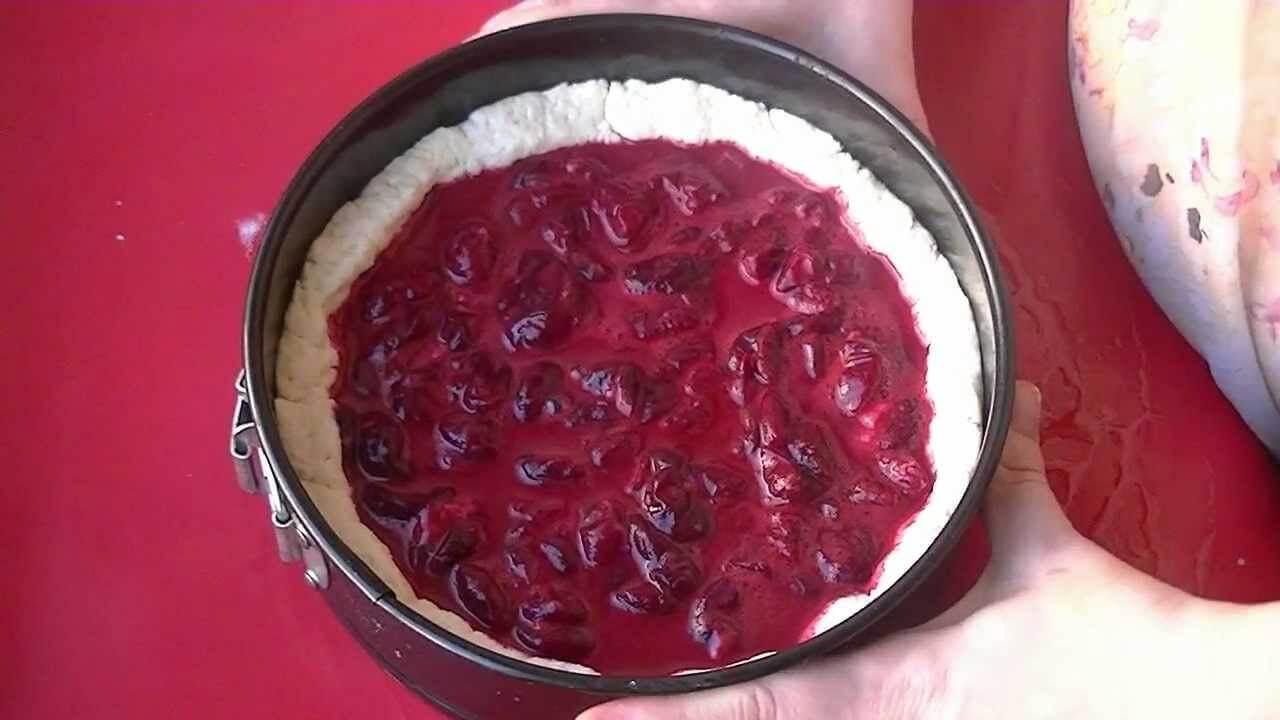 2 рецепта творожного пирога с вишней в духовке
