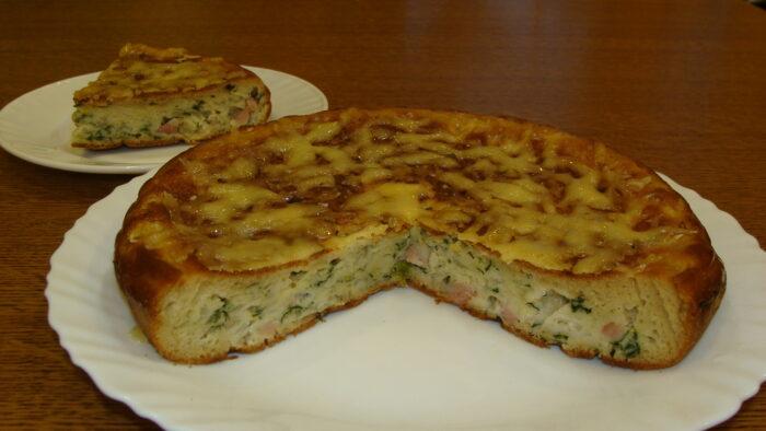 заливной пирог с капустой на сковороде