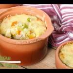 Рис в горшочках в духовке с овощами и сыром — YouTube