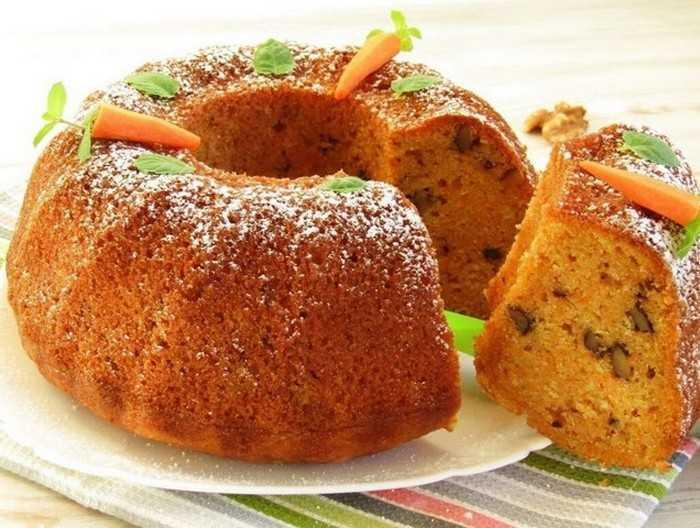 Морковно-творожный кекс