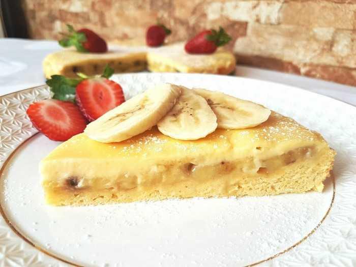 Рисовый пирог с бананом