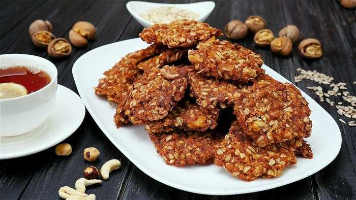 Печенье овсяное с орехами