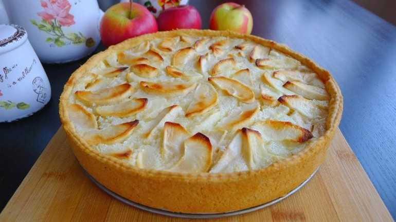 Пирог с яблоками от Юлии Высоцкой