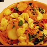 Салат из Цветной Капусты и Редиса