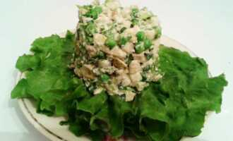 Живой сыроедческий салат оливье
