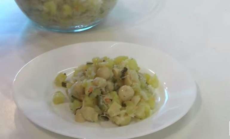 рецепт салата с грибами картошкой