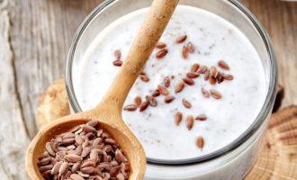 Как пить кефир с семенами льна