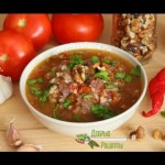 Суп харчо — рецепт с рисом и орехами — YouTube