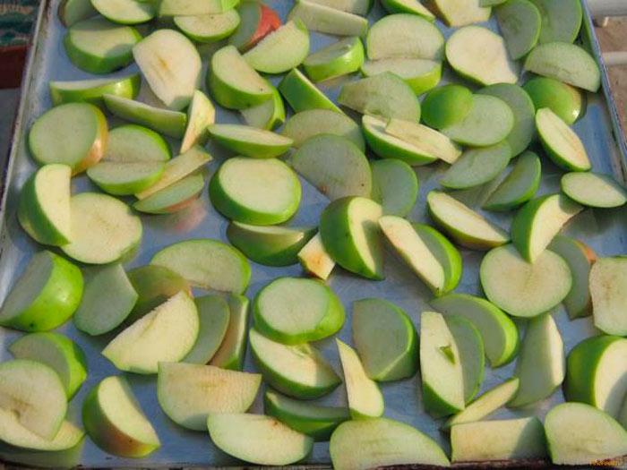 Способы сушки яблок