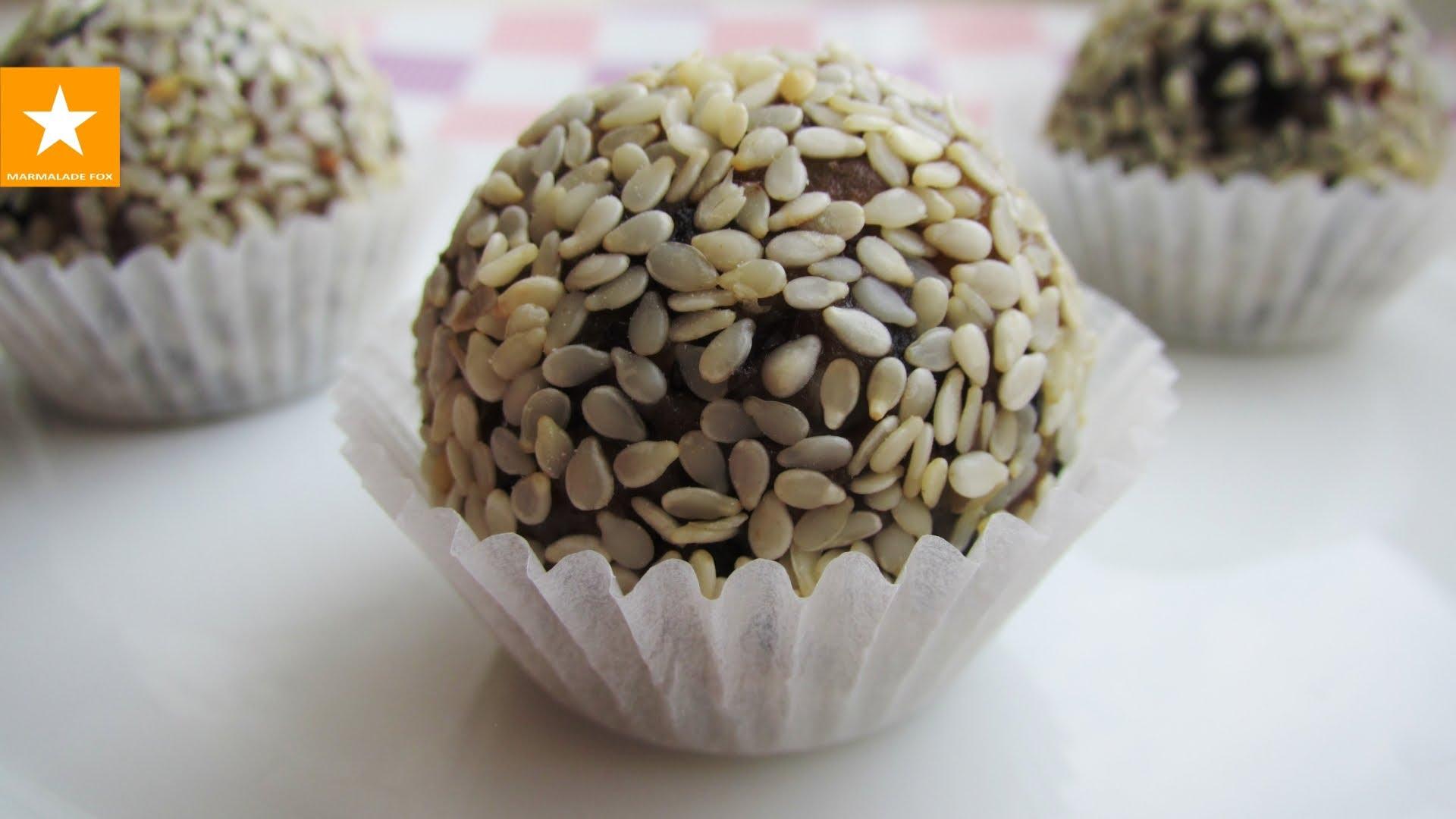 Сыроедческие конфеты из сухофруктов