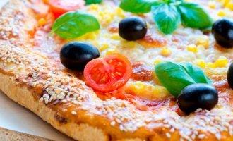 Как делать тесто для пиццы без дрожжей с базиликом