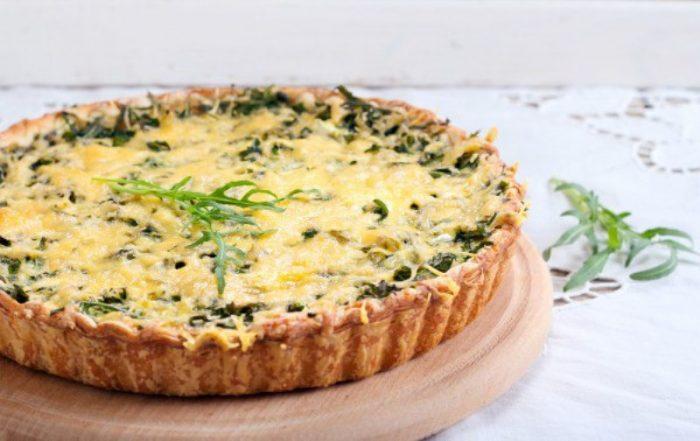 Творожный пирог с зеленью