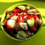 Витаминный Салат из Свежих Овощей с Топинамбуром