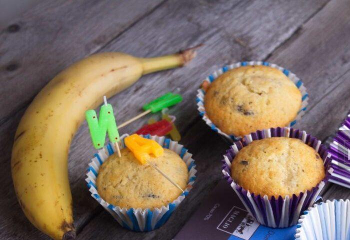 Веганские кексы с бананом без сахара
