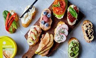 Бутерброды с творожным сыром