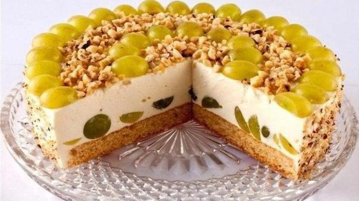 Рецепт творожного торта без выпечки с желатином и с фруктами