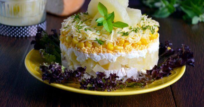 Новые слоеные вегетарианские салаты на Новый год 2019