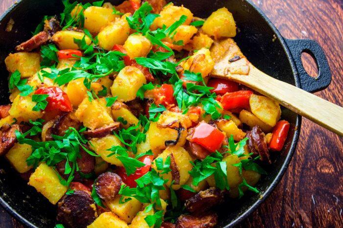 перец с картофелем