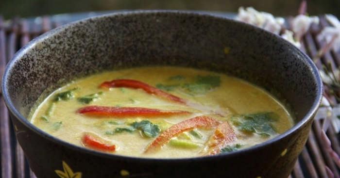 кокосовый суп с карри