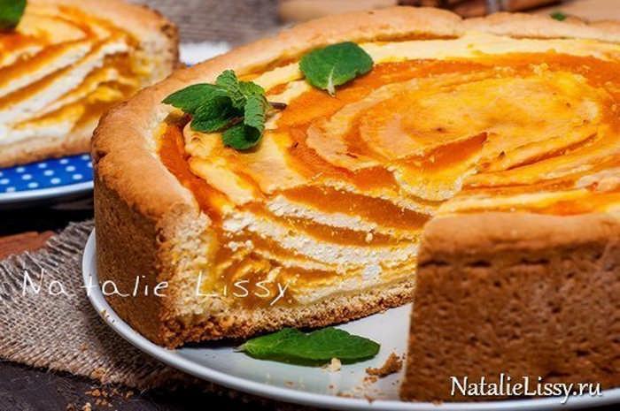 пирог с творогом и тыквой