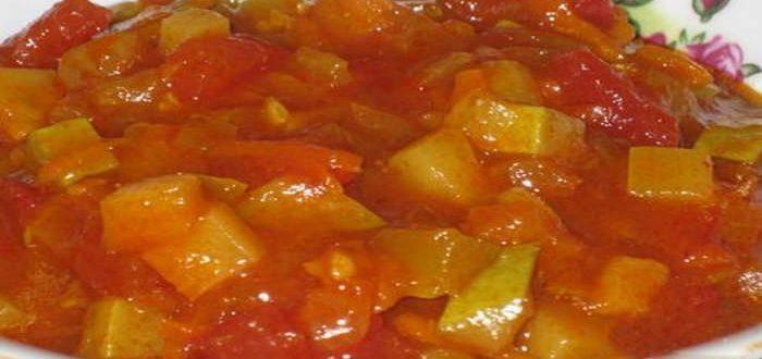 рецепт салата анкл бенс с кабачками