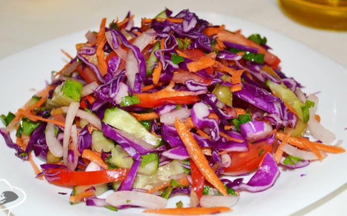 салат из капусты с редькой