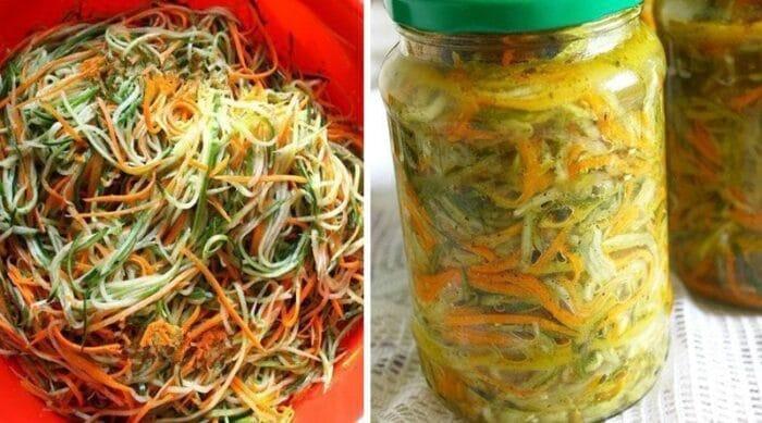 Консервированный салат по корейски