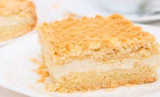 Как приготовить насыпной пирог с творогом