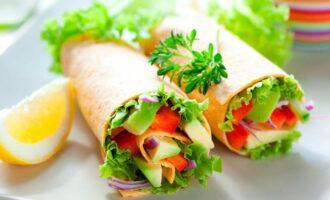 Шаурма вегетарианская фото