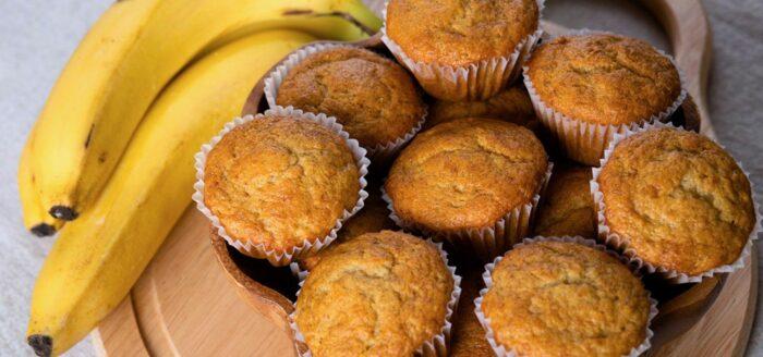 Банановый кекс без муки, сахара и молока