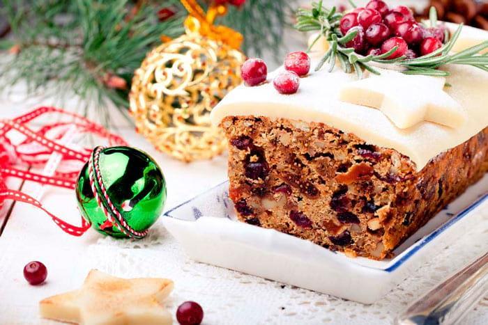 Рождественский кекс Штоллен фото