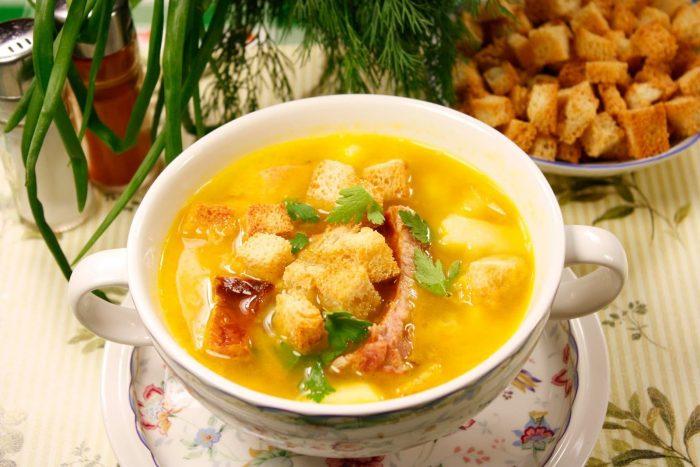 суп с копченностями
