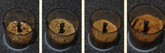 измельчение арахиса в блендере