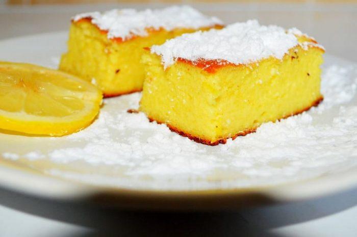 Творожный пирог из слоеного теста