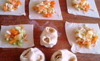 Постные манты с овощной начинкой