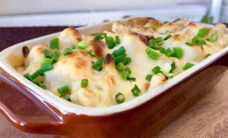 рецепт запеченной цветной капусты с сыром