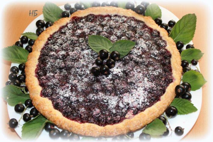 Вкусные пироги с черной смородиной