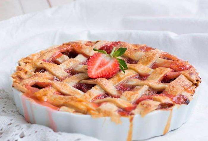 Пирог на кефире с клубникой рецепт